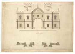 Design for a gatehouse for Sir Wm. Stanhope at Twickenham,1751